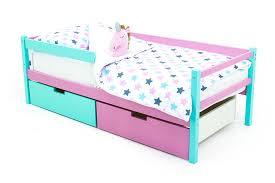 Детская деревянная <b>кровать</b>-<b>тахта Бельмарко Skogen мятный</b> ...
