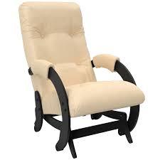 <b>Кресло</b>-<b>качалка</b> Комфорт <b>Модель</b> 68, Венге, экокожа Polaris Beige