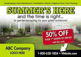 27 Brilliant Landscaper/Lawn Care Direct Mail Postcard Advertising ...