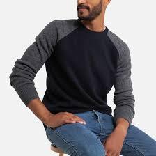 <b>Пуловер</b> с круглым вырезом из <b>шерсти</b> ягненка, двухцветный ...