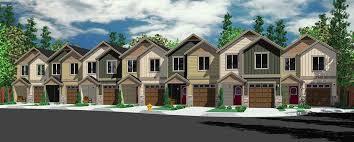 plus multiplex units Multi Family plansSV   m plex house plans  narrow row house plans  narrow