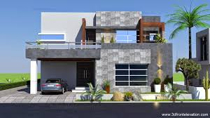 D Front Elevation com  Kanal Contemporary House Plan Design Create Kanal Contemporary House Plan Design Create