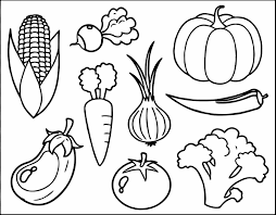 Small Picture Coloring Pages And Vegetables Coloring Pages Getcoloringpagescom