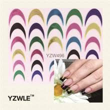 YZWLE 1 лист многоцветные <b>наклейки</b> для дизайна ногтей ...