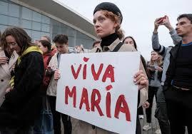 <b>Viva</b> Maria: <b>Belarusian</b> protesters celebrate leader who chose jail ...