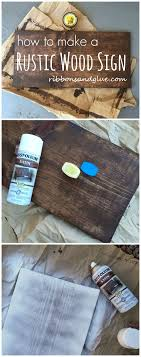 wood sign glass decor wooden kitchen wall: how to make diy rustic wood sign out of a plain wood board