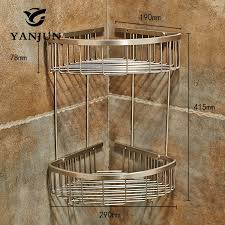 <b>Yanjun 304 Stainless</b> Steel Brushed Corner Shelf Shower Caddy ...