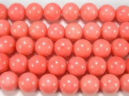 Нить <b>бусин</b> из <b>коралла розового</b>, <b>шар</b> гладкий 12мм