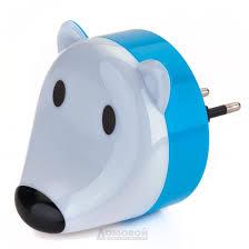 <b>Ночник</b> мишка светодиодный белый эра nn 603 ls w