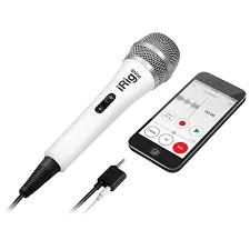 Купить <b>микрофон ik multimedia irig</b> voice для ios и android белый ...