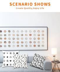 <b>Fuwatacchi</b> Simple <b>Geometric Cushion</b> Covers White and Black ...