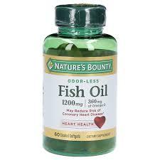 <b>Nature's</b> Bounty <b>Odorless</b> Fish Oil 1200mg/<b>Omega</b>-<b>3</b> & 6 Softgels ...