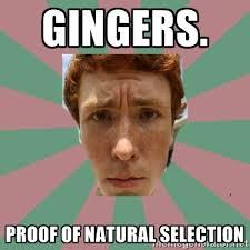 Gingers. Proof of natural selection - Ugly ginger guy | Meme Generator via Relatably.com