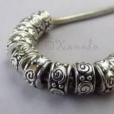 <b>10PCs</b> Wholesale Silver Plated <b>European</b> Large Hole <b>Spacer Beads</b> ...