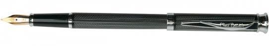 Перьевая <b>ручка Pierre Cardin</b> Tresor гравировка, черный лак, хром