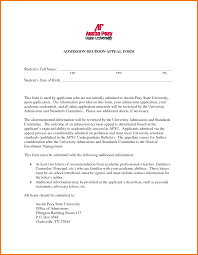 College Admission Appeal Letter Examples     src   Appeal Letters Sample