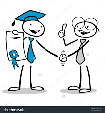 happy cartoon man certificate getting new stock illustration happy cartoon man a certificate getting a new job