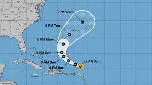 Hurricane Jerry sends rain and waves to Leeward Islands as it ...
