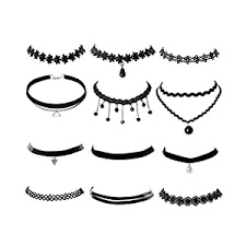 Buy SUPVOX Lace Collar Metal Gothic <b>Vintage</b> Choker <b>Necklace for</b> ...