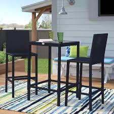 Outdoor <b>3 Piece Bar Set</b> | Wayfair