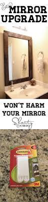 bathroom decor ideas unique decorating: great tutorial for updating a boring bathroom mirror i need this