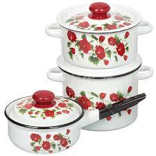 Набор эмалированной посуды Сибирские товары Рамо 26 ...