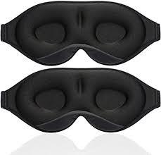 Unimi 2Pack Black/Grey Upgraded Sleep Eye Mask ... - Amazon.com