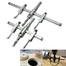 <b>Adjustable 30</b>-<b>130mm</b>/30-200mm Circle Hole Saw Drill Bit Cutter Kit ...