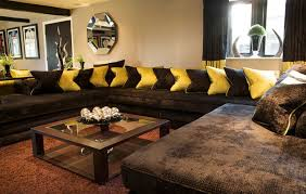 brown sofas filling a modern style living room big brown sofas big living room couches