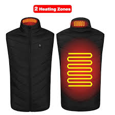 USB Powered Heated Vest Men Women Smart Electric Heating ...