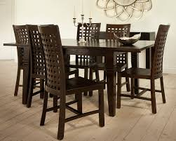 indonesian dark wood dining table