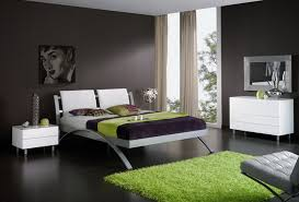 alluring design ideas of modern bedroom color scheme with green frieze carpet and metal bed frames alluring home bedroom design ideas black