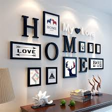 9pcs/lot Picture <b>Frames</b> HOME My love letters Wooden Photo <b>Frame</b> ...
