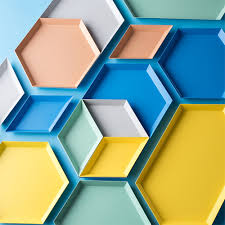 Polygon Jewelry Display Plate Desktop Combination <b>Storage</b> Tray ...