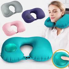 <b>1pc</b> Soft U Shape Cushion <b>Press</b> Inflatable Pillow Sleep Head ...