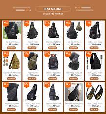 High Quality <b>Military</b> Nylon Men Sling Rucksack <b>Small</b> Backpack ...