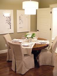 dining chair arms slipcovers: brown slipcovers for dining room chairs armless together with wallnut round coffee table plus sleek brown