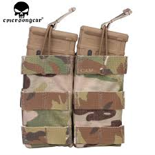 emersongear emerson double mag pouch for ss vest 556 762 magazine plate airsoft hunting holder multicam