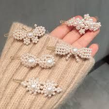 <b>Hot</b> sell Korea ins <b>pearl flower</b> butterfly hairpin bangs clip ...