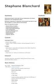 pastry chef resume samples   visualcv resume samples databaseexecutive pastry chef resume samples