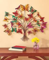metal butterfly tree wall art angled metal legs 4quotw
