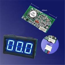 <b>3 digit</b> Mini Blue <b>LED DC</b> 100mA meter. Ideal for CO2 Laser power ...