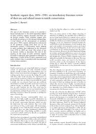 Synthetic organic dyes             an introductory literature