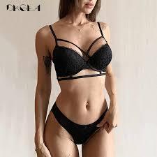 Brand <b>Hot Sexy</b> Underwear Set Lace Brassiere Deep V <b>Push Up</b> Bra ...