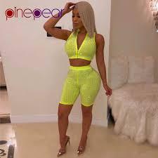 Online Shop PinePear <b>Neon</b> Green Diamond Sleeveless <b>Crop</b> Top ...