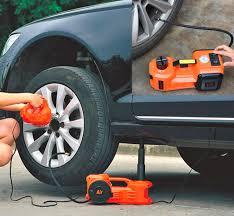 <b>3</b>-in-<b>1 Electric Car Jack</b>, Impact Wrench, and Tire Inflator