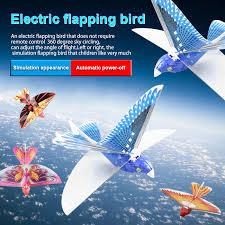 Kids Electronic <b>LED Light Flying</b> Bird Plane Assemble Flapping ...