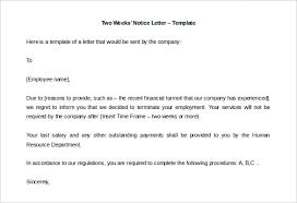 two weeks notice letter –    free word  pdf documents download    free download two weeks     notice letter template editable