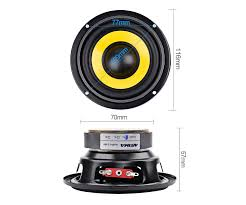 AIYIMA <b>2Pcs 4 inch</b> Woofer Audio Speaker Portable Mini Stereo ...