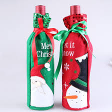 household dining table set christmas snowman knife: pc christmas snowman pattern red wine bottle cover creative gift bags dining table decoration supplies for dinner party xmas
